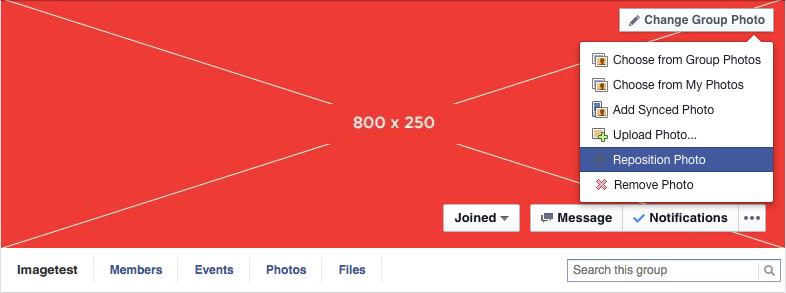 Facebook Group Cover Photo to Facebook's suggested size of 800 x 250 ...