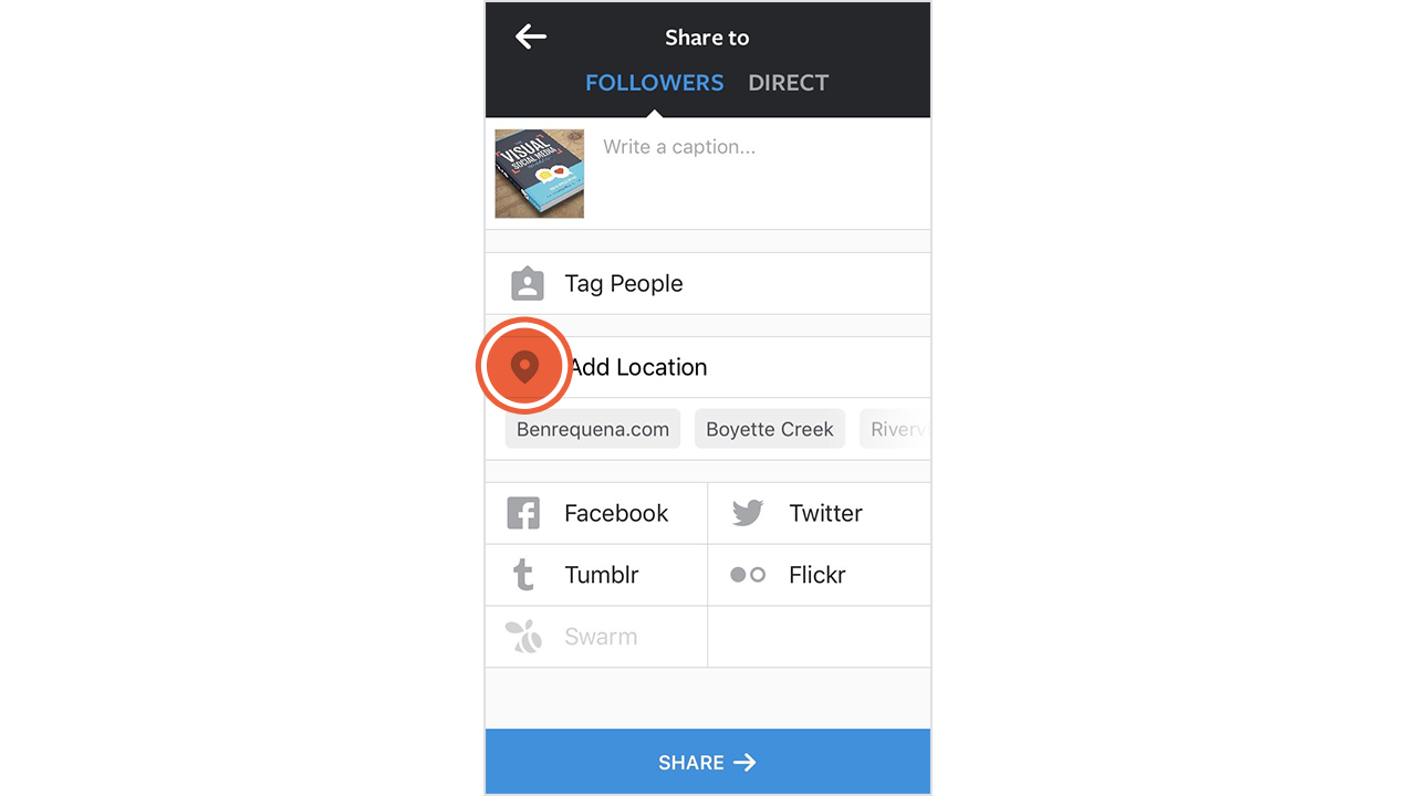 How to add a custom location on instagram open the instagram app and create a new post add location instagram1 ccuart Choice Image