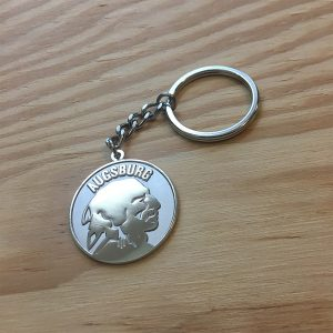 Augsburg American High School Apache Nickel-plated Keychain