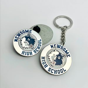 Newsome High School Keychain & Pin Set