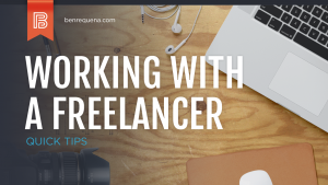 working with a freelance designer